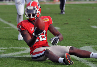 King caught for over 200 yards against Michigan State in the Outback Bowl, setting a bowl record.