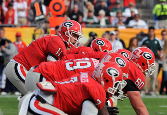 Georgia must replace three starters on the offensive line.