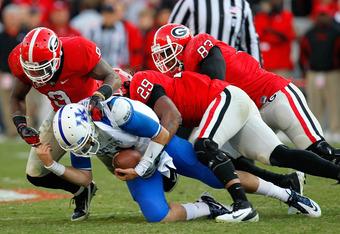 Ogletree, Jones, and Washington make up one of the nation's best linebacker corps.