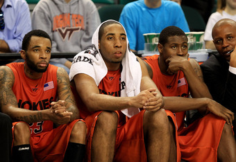 (from left to right) Malcolm Delaney, Victor Davila and Jeff Allen