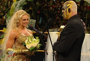 WWE writers had Aksana seduce Goldust so she could stay in the country.