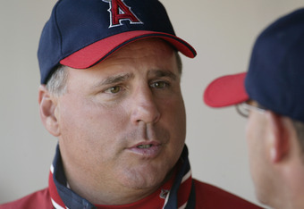 Angels Manager Mike Scioscia is no doubt enjoying his new addition...
