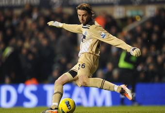 LONDON, ENGLAND - FEBRUARY 11:  Tim Krul of Newcastle United in action during the Barclays Premier League match between Tottenham Hotspur and Newcastle United at White Hart Lane on February 11, 2012 in London, England.  (Photo by Mike Hewitt/Getty Images)