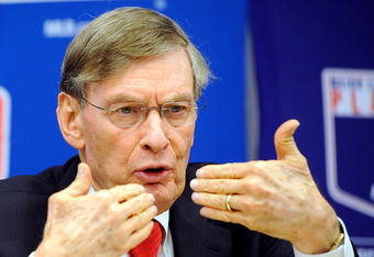 NEW YORK, NY - NOVEMBER 22:  Major League Baseball Commissioner Bud Selig speaks at a news conference at MLB headquarters on November 22, 2011 in New York City. Selig announced a new five-year labor agreement between Major League Baseball and the Major Le