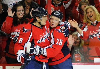 Alex Ovechkin and Alexander Semin