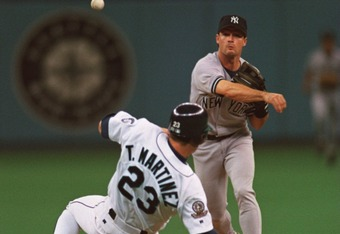 Russ Davis and Tino Martinez, whom he would eventually be traded for on Dec. 7, 1995.