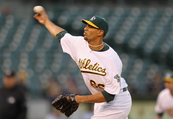 OAKLAND, CA - MAY 03:  Tyson Ross #66 of the Oakland Athletics pitches against the Cleveland Indians at Oakland-Alameda County Coliseum on May 3, 2011 in Oakland, California.  (Photo by Ezra Shaw/Getty Images)