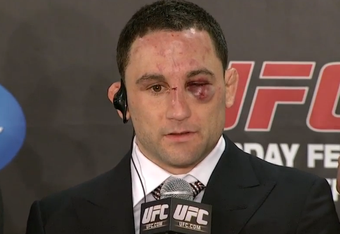 Frankie Edgar's usual post-fight face