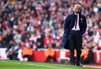 Wenger stood alone in his faith in Walcott in the derby's first half.