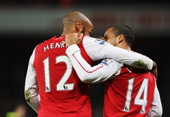 Walcott and his idol, whom many fans would like Walcott to be more like.