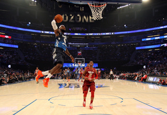 ORLANDO, FL - FEBRUARY 26:  LeBron James #6 of the Miami Heat and the Eastern Conference drives for a dunk attempt against Chris Paul #3 of the Los Angeles Clippers and the Western Conference during the 2012 NBA All-Star Game at the Amway Center on Februa