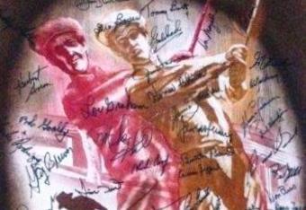 Legends of Golf autographed portrait.