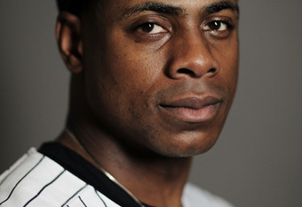 TAMPA, FL - FEBRUARY 27: Curtis Granderson #14 of the New York Yankees poses for a portrait during the New York Yankees Photo Day on February 27, 2012 in Tampa, Florida.  (Photo by Nick Laham/Getty Images)