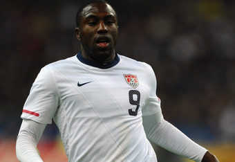 PARIS, FRANCE - NOVEMBER 11:  Jozy Altidore of USA in action during the International Friendly between France and USA at Stade de France on November 11, 2011 in Paris, France.  (Photo by Mike Hewitt/Getty Images)