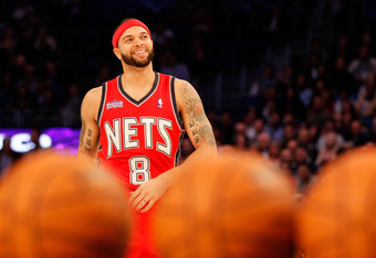 ORLANDO, FL - FEBRUARY 25:  Deron Williams of the New Jersey Nets competes during the Taco Bell Skills Challenge part of 2012 NBA All-Star Weekend at Amway Center on February 25, 2012 in Orlando, Florida.  NOTE TO USER: User expressly acknowledges and agr