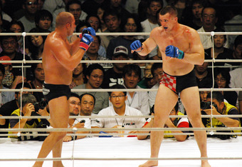 "Fedor Emelianenko vs. Mirko ""Cro Cop"" Filipovic, one of the high points of Pride FC."