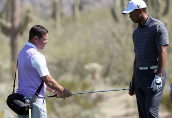 Sean Foley with Tiger Woods