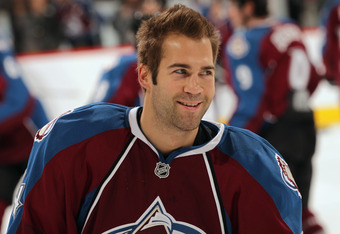 DENVER, CO - FEBRUARY 23:  Daniel Winnik #34 of the Colorado Avalanche skates during warm ups prior to facing the Edmonton Oilers at the Pepsi Center on February 23, 2011 in Denver, Colorado. The Oilers defeated the Avalanmche 5-1.  (Photo by Doug Pensing