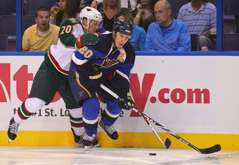 There's still no timetable for the return of Alex Steen and other Blues players