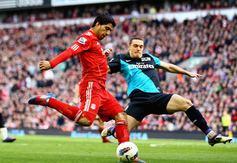 Suarez Won a Penalty in Controversial Fashion In Today's Match Against Arsenal