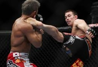 Jake Shields used effective striking to win his fight against Yoshihiro Akiyama.