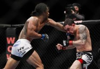 Ben Henderson's punches find a home.