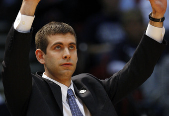BIRMINGHAM, AL - MARCH 21: Coach Brad Stevens of the Butler Bulldogs yells instructions during the first round game against South Alabama in the South Regional as part of the 2008 NCAA Men's Basketball Tournament at the Birmingham-Jefferson Civic Center o