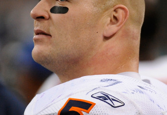 MINNEAPOLIS, MN - JANUARY 1: Brian Urlacher #54 of the Chicago Bears looks on during the game against the Minnesota Vikings on January 1, 2012 at Mall of America Field at the Hubert H. Humphrey Metrodome in Minneapolis, Minnesota. (Photo by Hannah Foslien