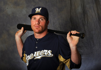 MARYVALE, AZ - FEBRUARY 26:  Mat Gamel of the Milwaukee Brewers poses for a portrait during a photo day at Maryvale Baseball Park on February 26, 2012 in Maryvale, Arizona. (Photo by Rich Pilling/Getty Images)