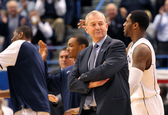 Will Jim Calhoun's health be a factor in how the Huskies play in the Big East Tournament?