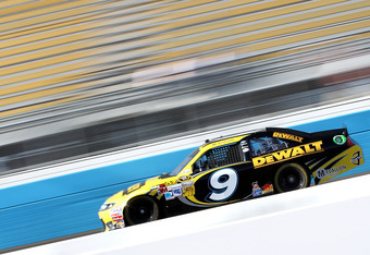 AVONDALE, AZ - MARCH 02:  Marcos Ambrose, driver of the #9 Stanley Ford, drives during practice for the NASCAR Sprint Cup Series Subway Fresh Fit 500 at Phoenix International Raceway on March 2, 2012 in Avondale, Arizona.  (Photo by Christian Petersen/Get