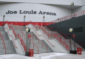 DETROIT - FEBRUARY 8:  Joe Louis Arena is shown before the Detroit Red Wings game against the Nashville Predators on February 8, 2006 in Detroit, Michigan. The Red Wings won 6-0. (Photo By Dave Sandford/Getty Images)