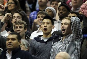 Photo Jim McIsaac/Jeremy Lin watches Harvard at Columbia