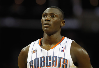 CHARLOTTE, NC - FEBRUARY 10:  Bismack Biyombo #0 of the Charlotte Bobcats during their game at Time Warner Cable Arena on February 10, 2012 in Charlotte, North Carolina. NOTE TO USER: User expressly acknowledges and agrees that, by downloading and or usin