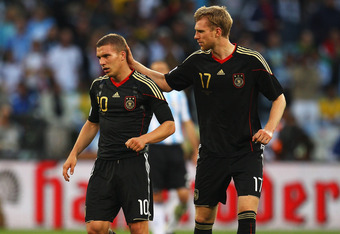 Mertesacker and Podolski have been international teammates for years