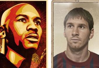 Jordan and Messi