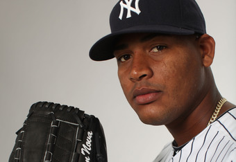 TAMPA, FL - FEBRUARY 27:  Ivan Nova of the New York Yankees poses for a portrait during the New York Yankees Photo Day on February 27, 2012 in Tampa, Florida.  (Photo by Nick Laham/Getty Images)