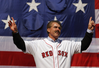 Bill Buckner the first returns to Fenway, April 2008