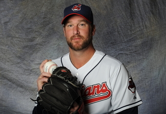 GOODYEAR, AZ - FEBRUARY 28:  Derek Lowe #26 of the Cleveland Indians poses for a portrait during a photo day at Goodyear Ballpark on February 28, 2012 in Goodyear, Arizona. (Photo by Rich Pilling/Getty Images)