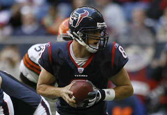 Houston Texans quarterback David Carr (8). The Houston Texans defeated the Cleveland Browns 14-6 , Dec. 31, 2006 at Reliant Stadium in Houston, Texas. (Photo by Bob Levey/NFLPhotoLibrary)