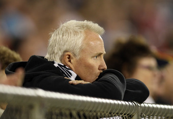 ADELAIDE, AUSTRALIA - MARCH 09: A Magpies fan looks on during the round three NAB Cup match between the Adelaide Crows and the Collingwood Magpies at AAMI Stadium on March 9, 2012 in Adelaide, Australia.  (Photo by Morne de Klerk/Getty Images)