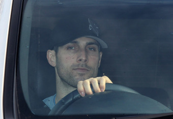 GLASGOW, SCOTLAND - MARCH 06:  Carlos Bocanegra of Rangers departs the Murray Park training ground on March 6, 2012 in Glasgow, Scotland. Rangers players continue discussions with Duff and Phelps administrators over wage cuts.  (Photo by Jeff J Mitchell/G