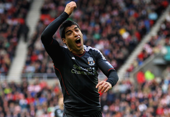 Luis Suarez cuts a frustrated figure