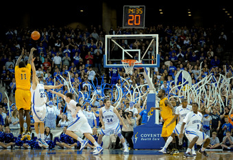 OMAHA, NE - FEBRUARY 18: Creighton Bluejays fans cheer on their team during their game against the Long Beach State 49ers at CenturyLink Center February 18, 2012 in Omaha, Nebraska. Creighton beat Long Beach State on a last second shot 81-79. (Photo by Er