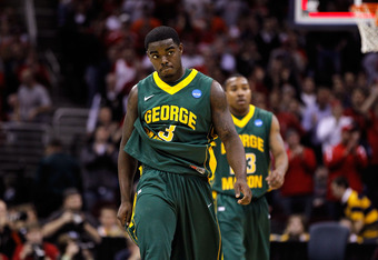 CLEVELAND, OH - MARCH 20: Bryon Allen #3 of the George Mason Patriots walks off the court after being defeated by the Ohio State Buckeyes during the third of the 2011 NCAA men's basketball tournament at Quicken Loans Arena on March 20, 2011 in Cleveland,