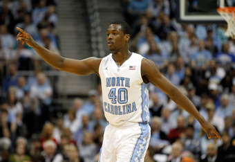 ATLANTA, GA - MARCH 11:  Harrison Barnes #40 of the North Carolina Tar Heels gestures on court against the Florida State Seminoles during the Final Game of the 2012 ACC Men's Basketball Conference Tournament at Philips Arena on March 11, 2012 in Atlanta,