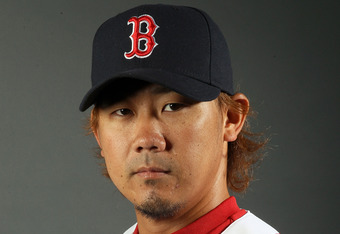 FORT MYERS, FL - FEBRUARY 26:  Daisuke Matsuzaka #18 of the Boston Red Sox poses for a portrait on February 26, 2012 at jetBlue Park in Fort Myers, Florida.  (Photo by Elsa/Getty Images)