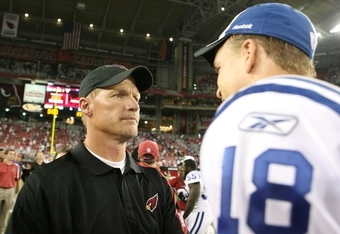 Peyton Manning and Cardinals head coach Ken Whisenhunt are close friends and golfing buddies.