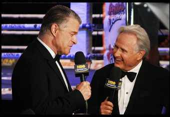 Jim Lampley and Larry Merchant