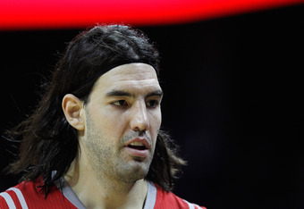 CHARLOTTE, NC - JANUARY 10:  Luis Scola #4 of the Houston Rockets against the Charlotte Bobcats during their game at Time Warner Cable Arena on January 10, 2012 in Charlotte, North Carolina.   NOTE TO USER: User expressly acknowledges and agrees that, by